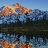 Rockwell  Winston - 2015 Evening at an Alpine Lake