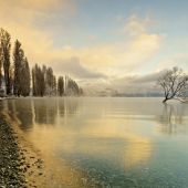 Van Dugteren Gregory - 2016 Pastel Light on Lake Wanaka