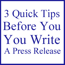 3 Quick Tips Before Writing an Art Related Press Release