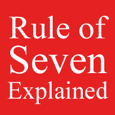 RULE OF SEVEN EXPLAINS ARTISTS DISCORAGEMENT