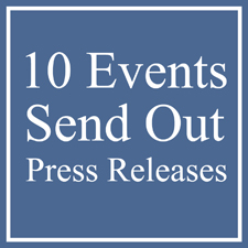 10 EVENTS FOR ARTISTS TO SEND OUT PRESS RELEASES