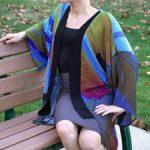 Crystal Kimono - 225 - Crossroads - Crystal Art Outfitters - on model